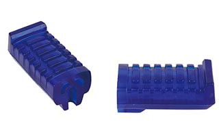 Blue PVC Motorcycle Footrests
