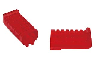 Red PVC Motorcycle Footrests